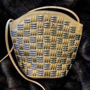Jenny Tee Leather & Metal Studded 1980's Bag